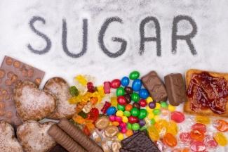 Food containing sugar