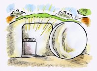 Easter Cartoon Tomb