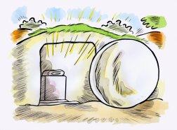 Easter Cartoon Tomb
