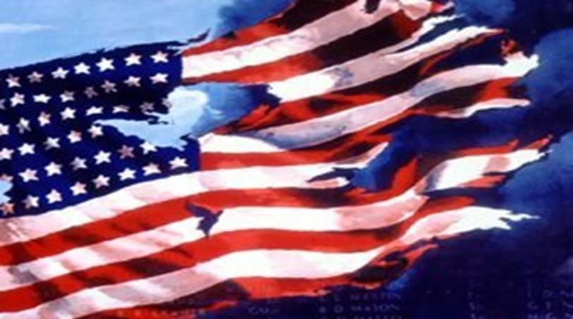 US Flag Tattered