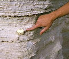 Sulfur Ball in Rock