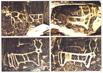 Golden Calf Base Calf Petroglyphs