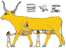 Golden Calf Egyptian Model